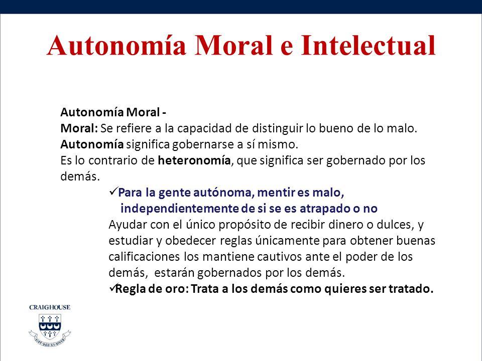 Autonomía Moral e Intelectual