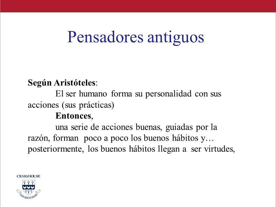 Pensadores antiguos Según Aristóteles: