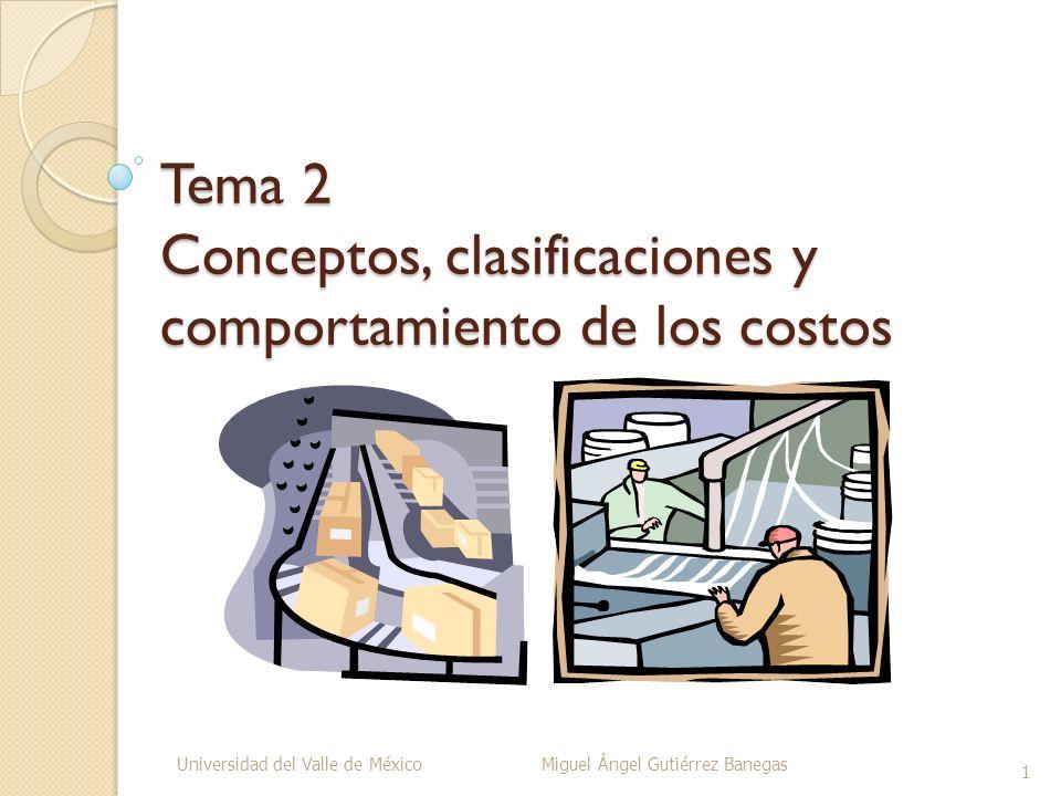 Tema 2 Conceptos, clasificaciones y comportamiento de los costos