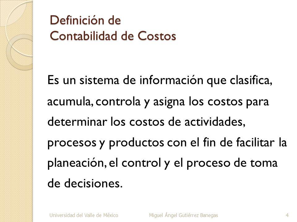 Definición de Contabilidad de Costos