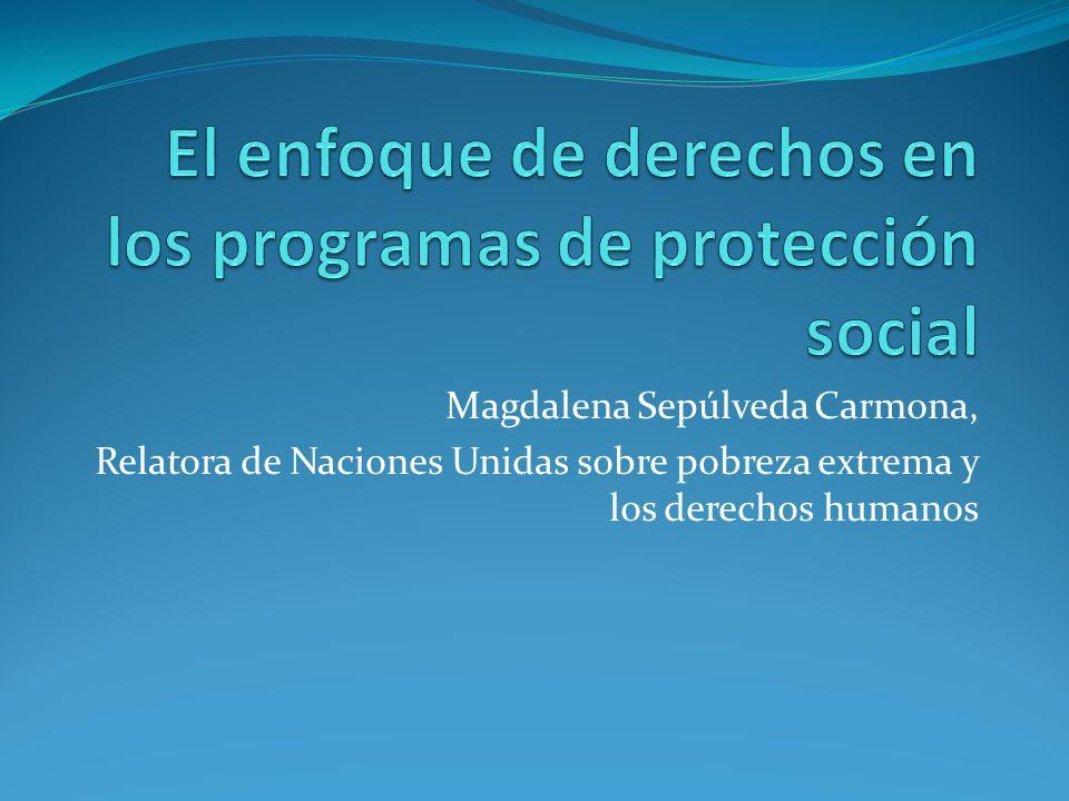 El enfoque de derechos en los programas de protección social