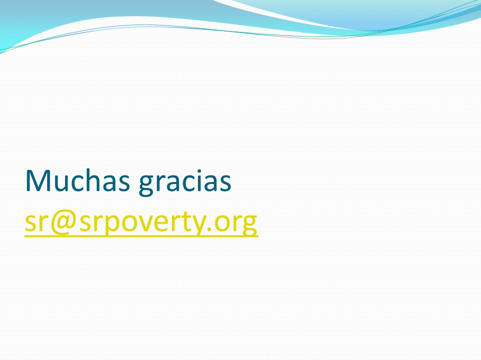 Muchas gracias sr@srpoverty.org