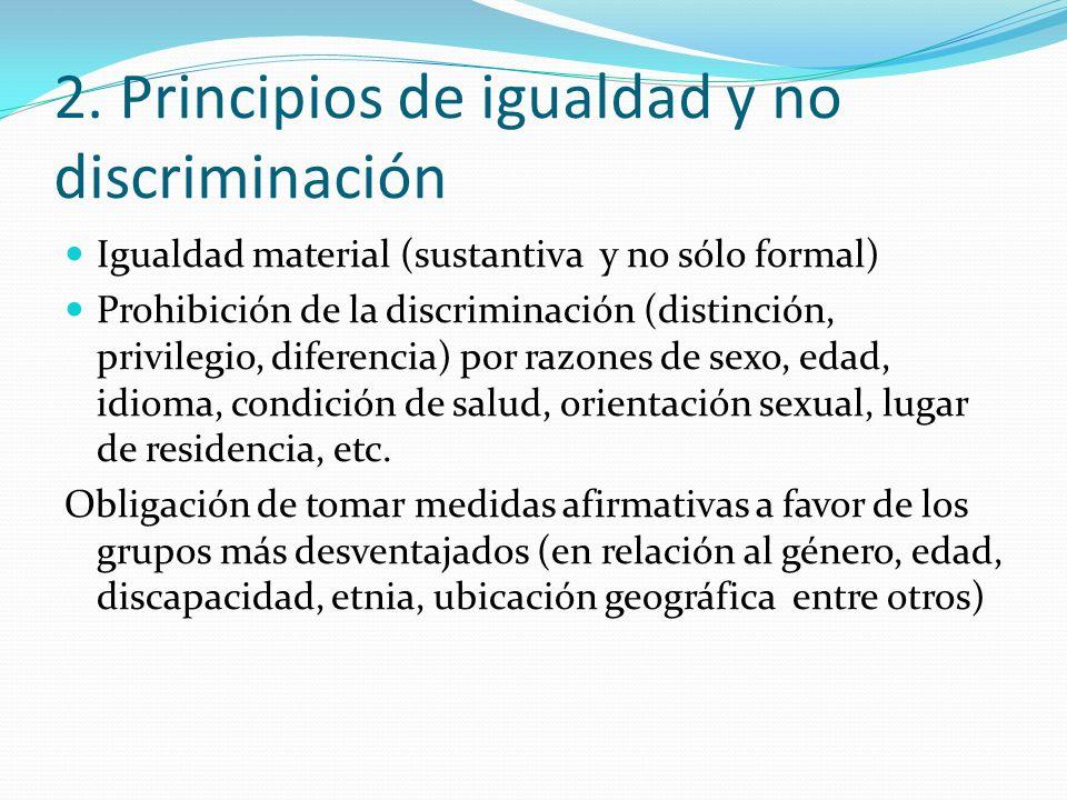 2. Principios de igualdad y no discriminación