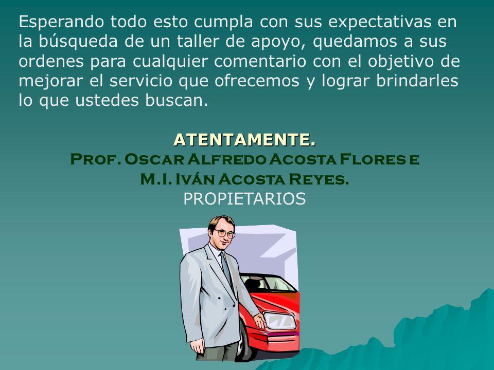 Prof. Oscar Alfredo Acosta Flores e