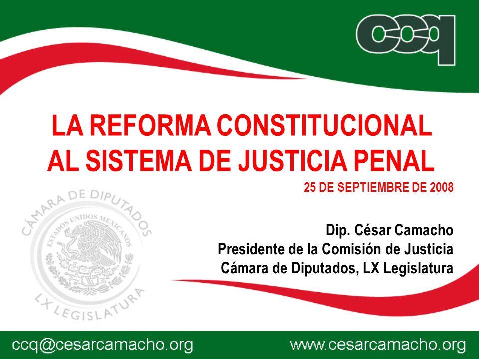 LA REFORMA CONSTITUCIONAL AL SISTEMA DE JUSTICIA PENAL