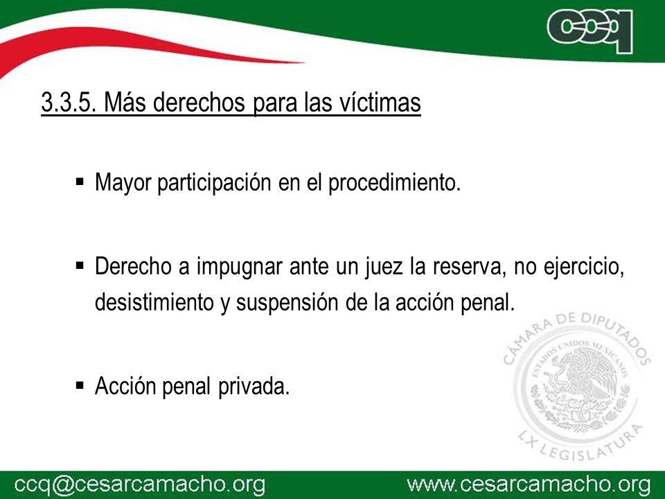 3.3.5. Más derechos para las víctimas