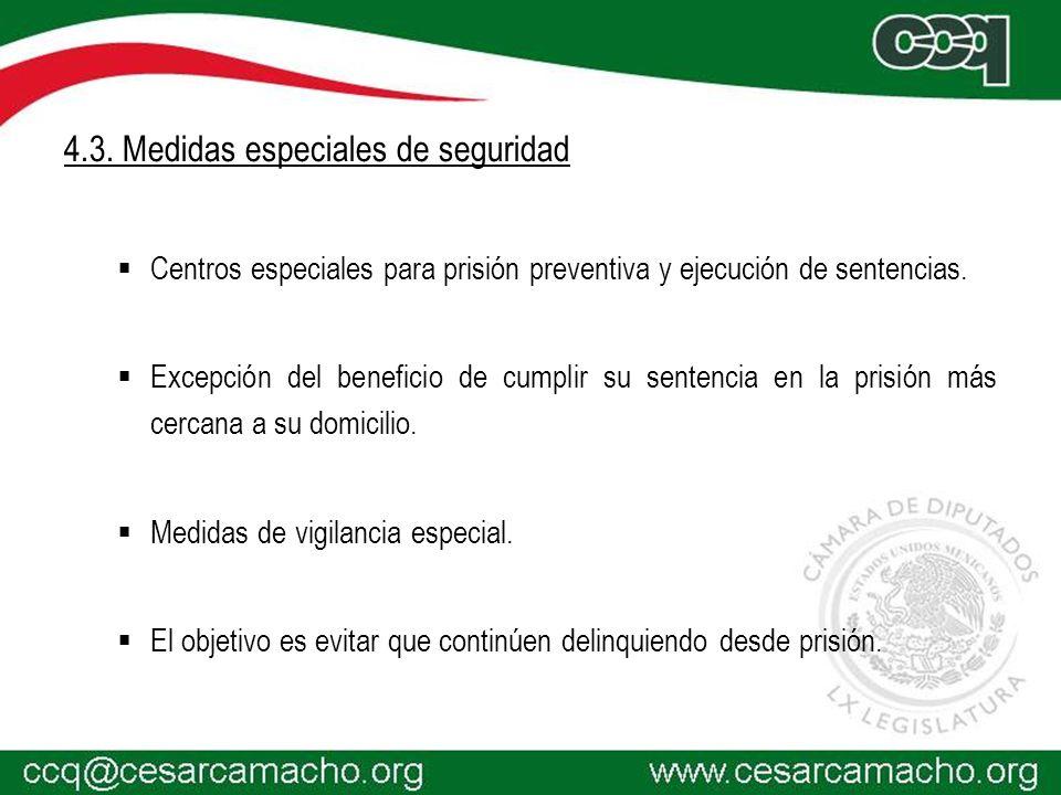 4.3. Medidas especiales de seguridad