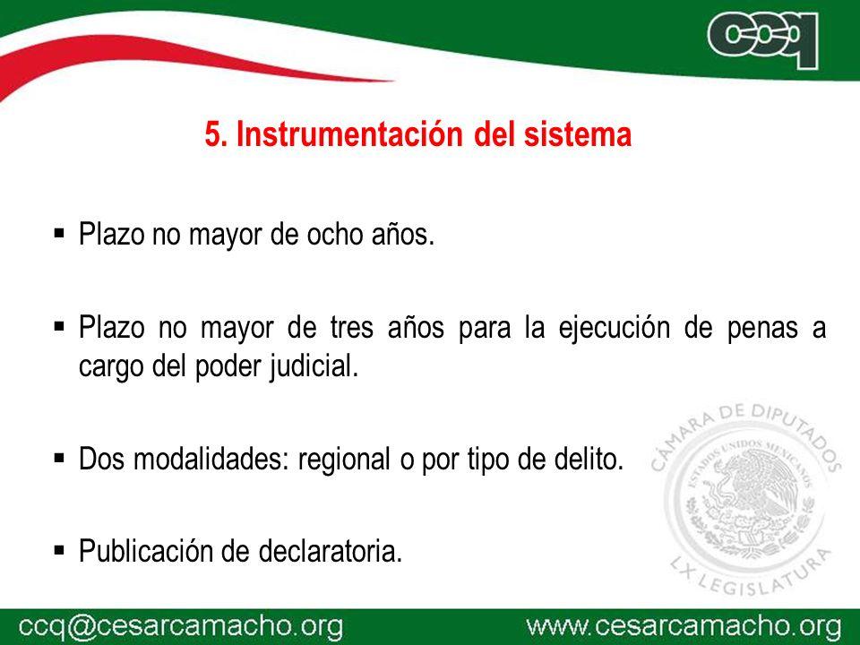 5. Instrumentación del sistema