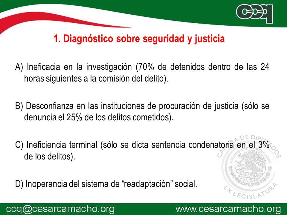 1. Diagnóstico sobre seguridad y justicia