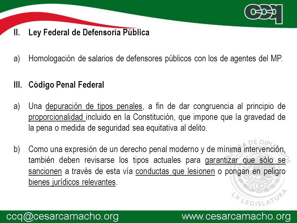 Ley Federal de Defensoría Pública