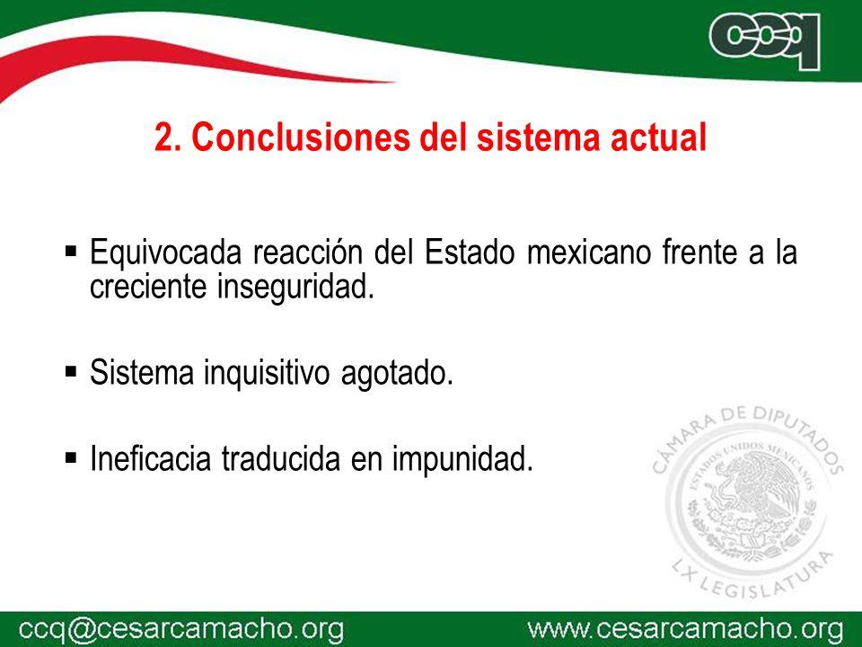 2. Conclusiones del sistema actual