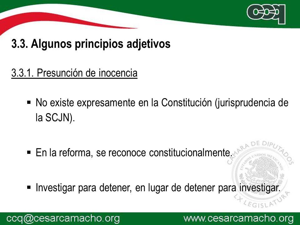 3.3. Algunos principios adjetivos