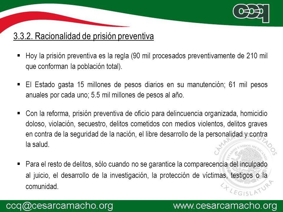 3.3.2. Racionalidad de prisión preventiva