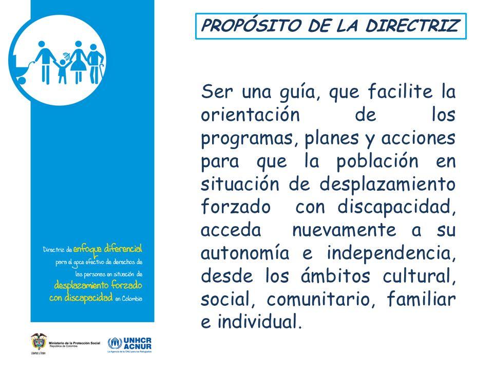 PROPÓSITO DE LA DIRECTRIZ