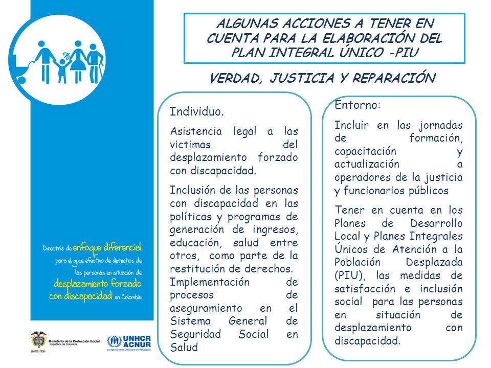 VERDAD, JUSTICIA Y REPARACIÓN