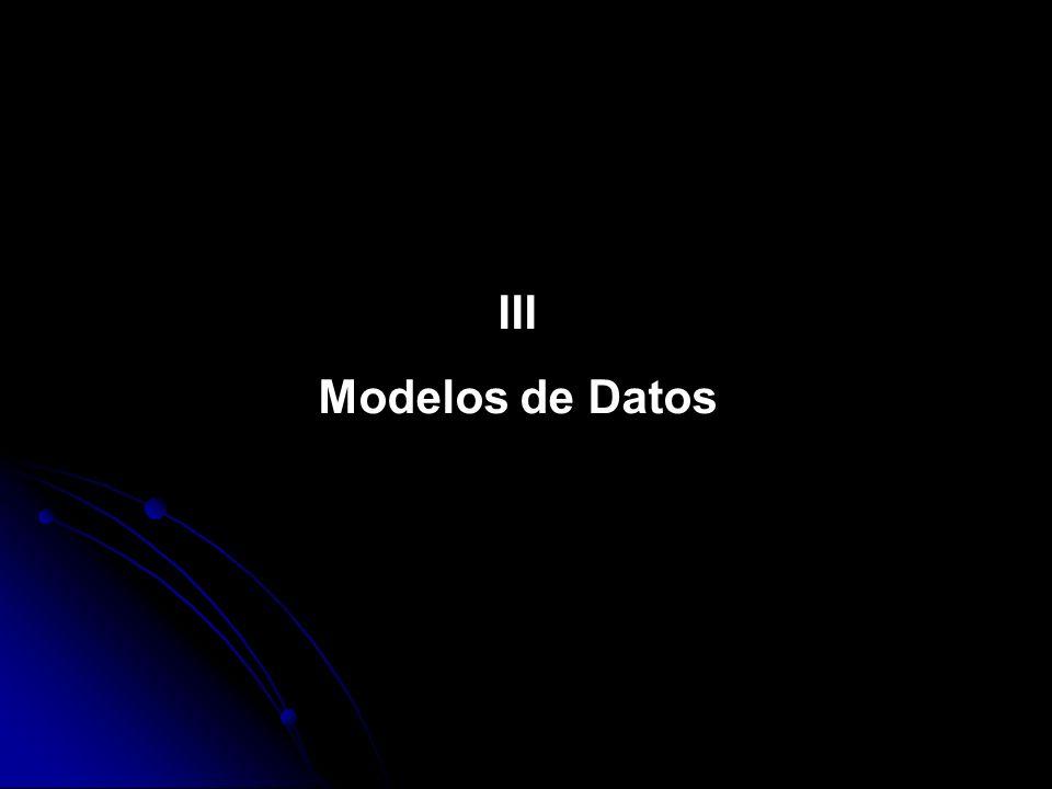 III Modelos de Datos