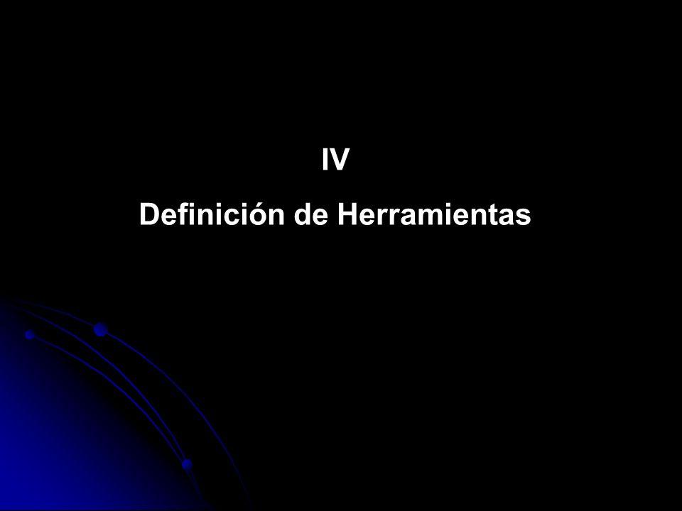 Definición de Herramientas