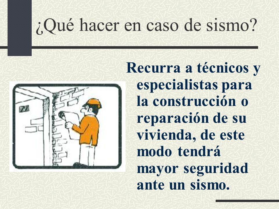 ¿Qué hacer en caso de sismo