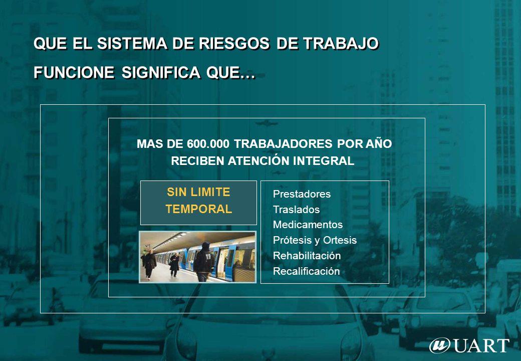 MAS DE 600.000 TRABAJADORES POR AÑO RECIBEN ATENCIÓN INTEGRAL
