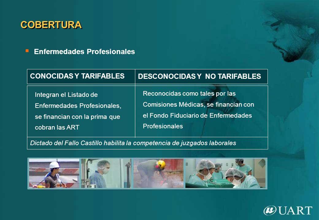 COBERTURA Enfermedades Profesionales CONOCIDAS Y TARIFABLES