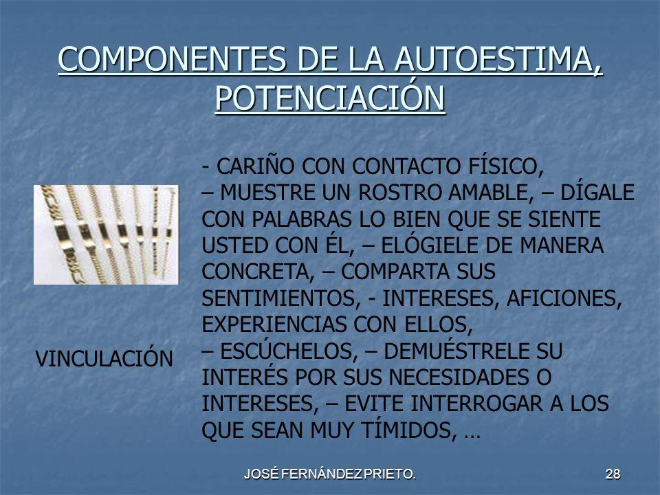 COMPONENTES DE LA AUTOESTIMA, POTENCIACIÓN