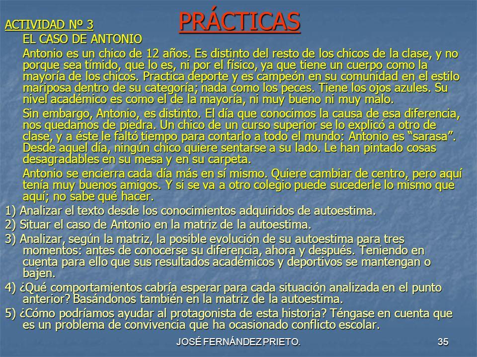 PRÁCTICAS ACTIVIDAD Nº 3 EL CASO DE ANTONIO