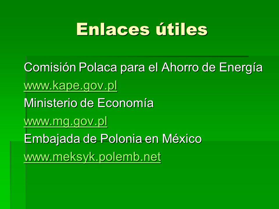 Enlaces útiles Comisión Polaca para el Ahorro de Energía