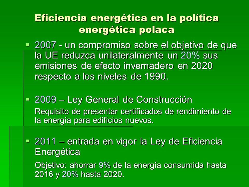 Eficiencia energética en la política energética polaca