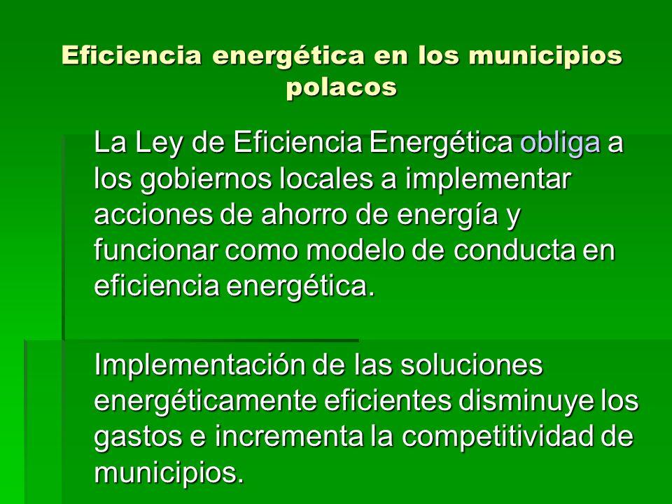 Eficiencia energética en los municipios polacos