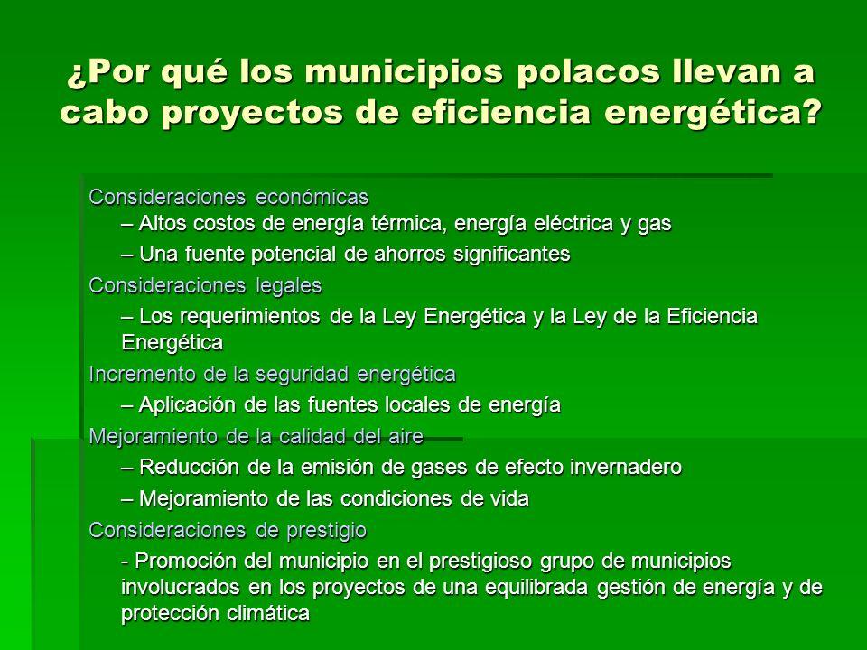¿Por qué los municipios polacos llevan a cabo proyectos de eficiencia energética