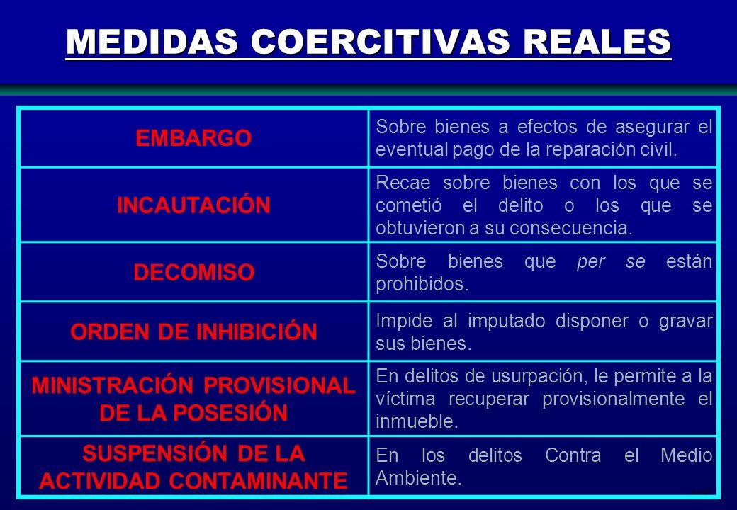 MEDIDAS COERCITIVAS REALES
