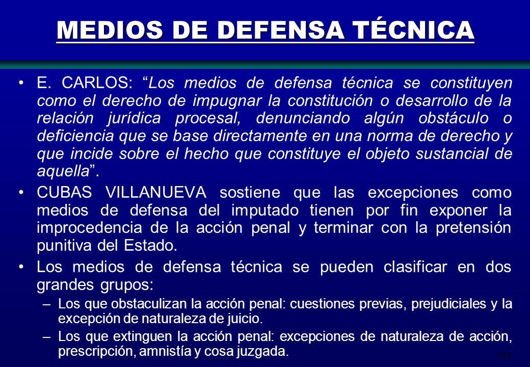 MEDIOS DE DEFENSA TÉCNICA