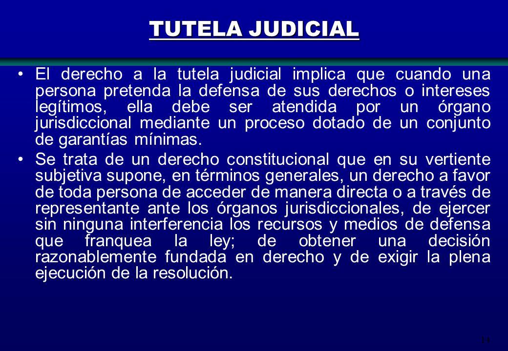 TUTELA JUDICIAL