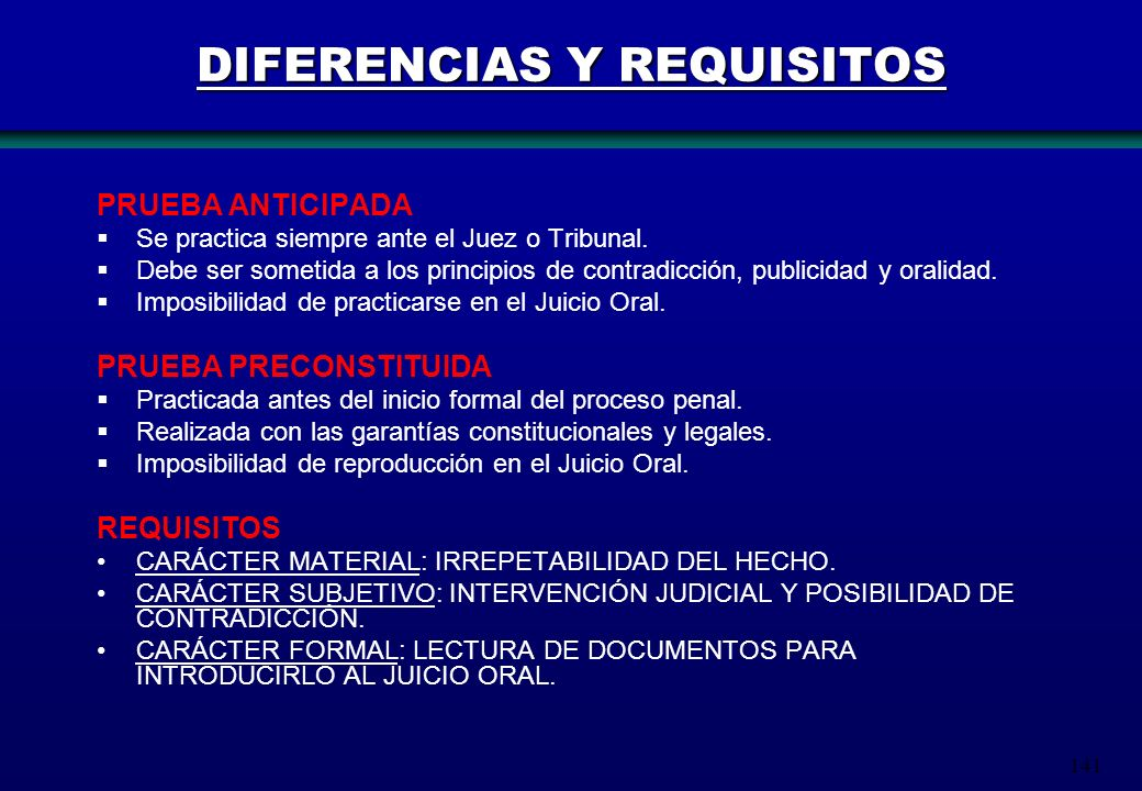 DIFERENCIAS Y REQUISITOS