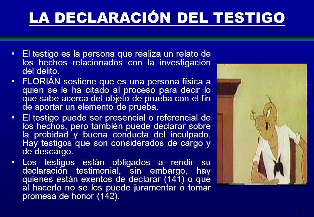 LA DECLARACIÓN DEL TESTIGO