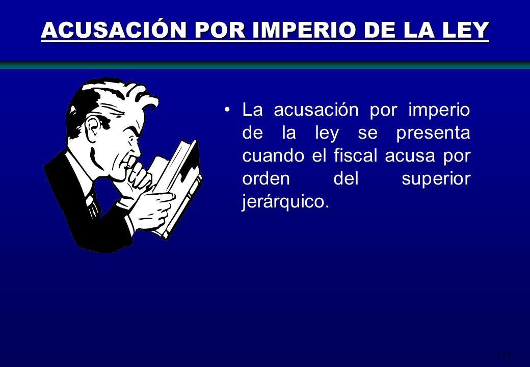 ACUSACIÓN POR IMPERIO DE LA LEY