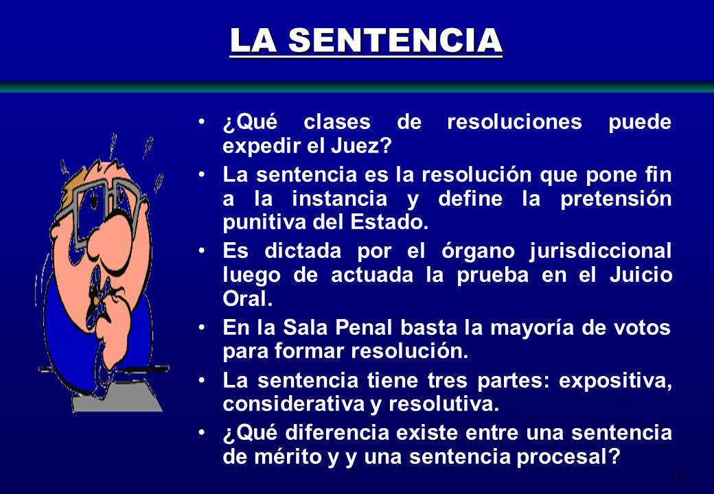 LA SENTENCIA ¿Qué clases de resoluciones puede expedir el Juez