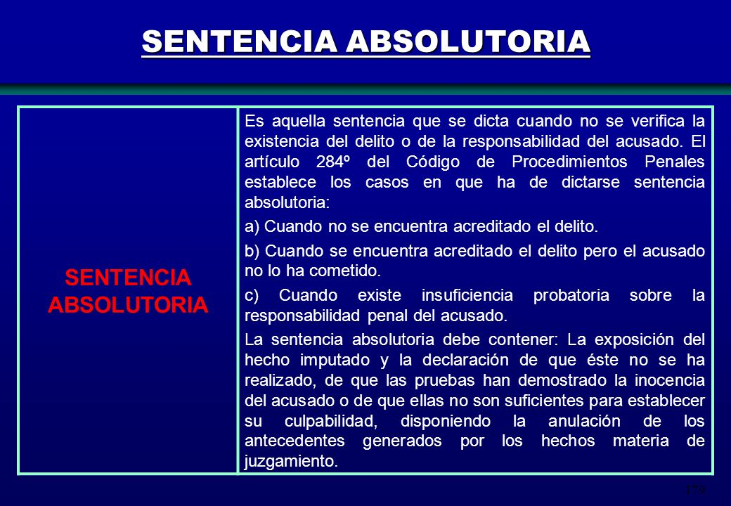 SENTENCIA ABSOLUTORIA