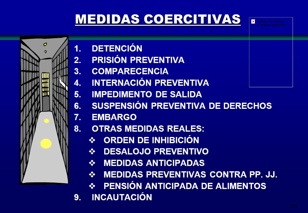 MEDIDAS COERCITIVAS DETENCIÓN PRISIÓN PREVENTIVA COMPARECENCIA