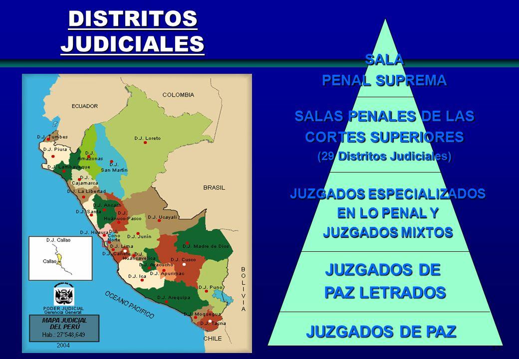(29 Distritos Judiciales) JUZGADOS ESPECIALIZADOS
