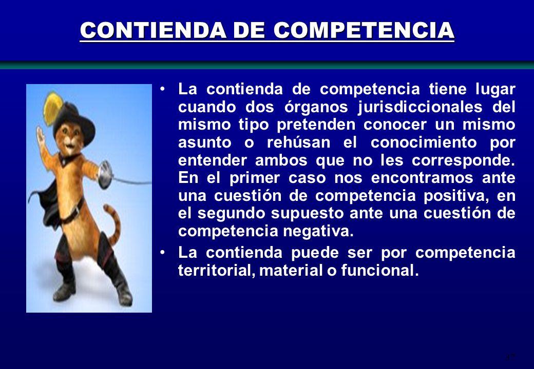 CONTIENDA DE COMPETENCIA