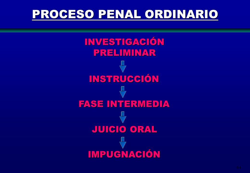 PROCESO PENAL ORDINARIO
