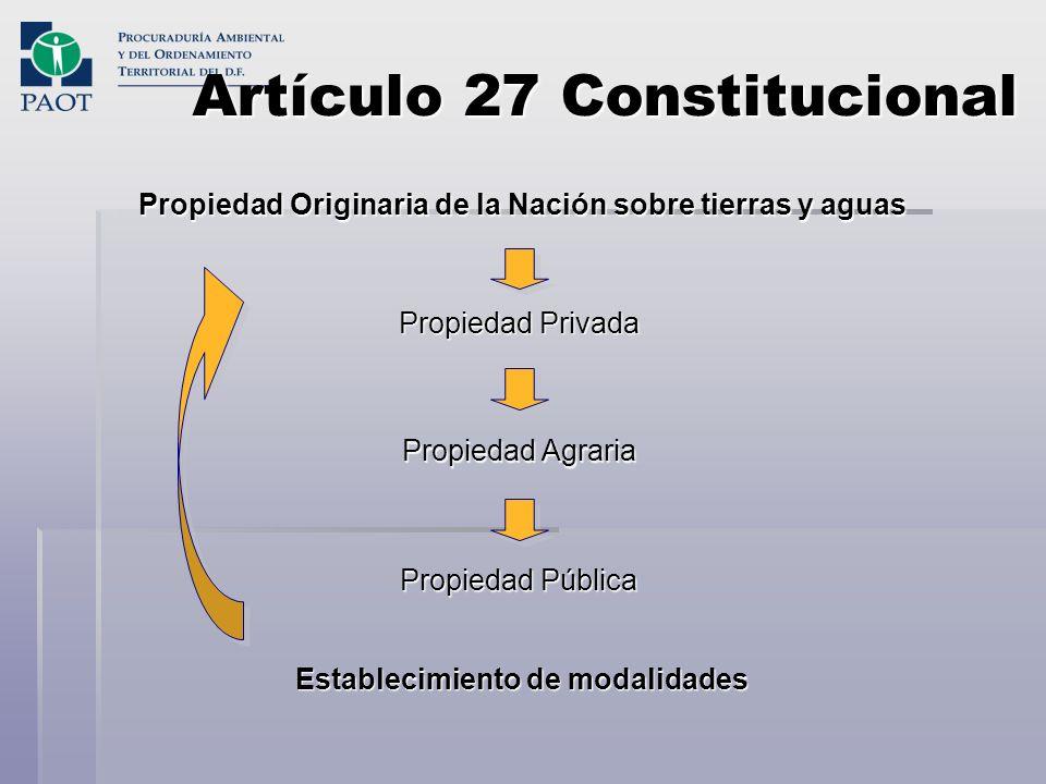 Artículo 27 Constitucional