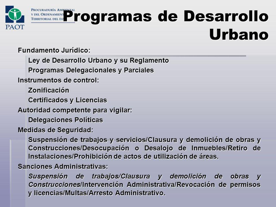 Programas de Desarrollo Urbano