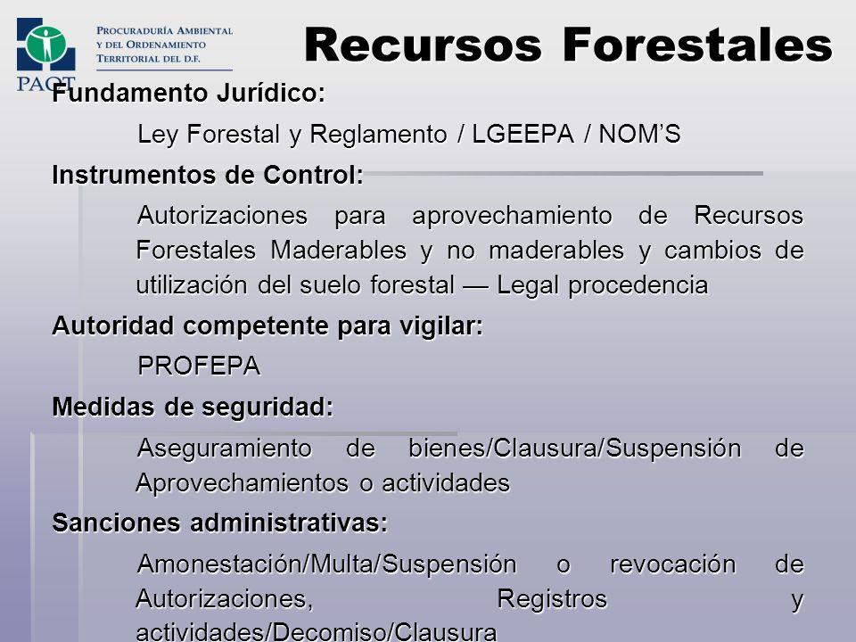 Recursos Forestales Fundamento Jurídico: