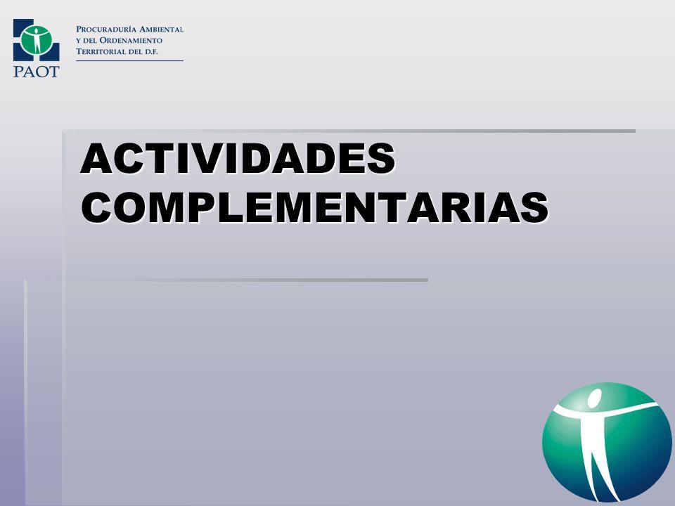 ACTIVIDADES COMPLEMENTARIAS
