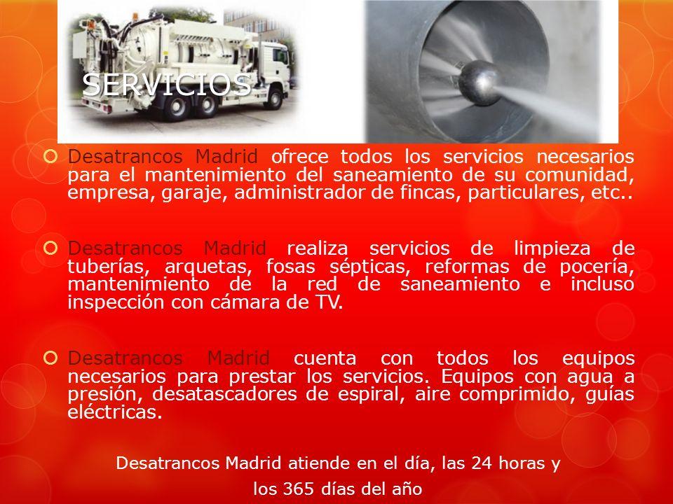 Desatrancos Madrid atiende en el día, las 24 horas y