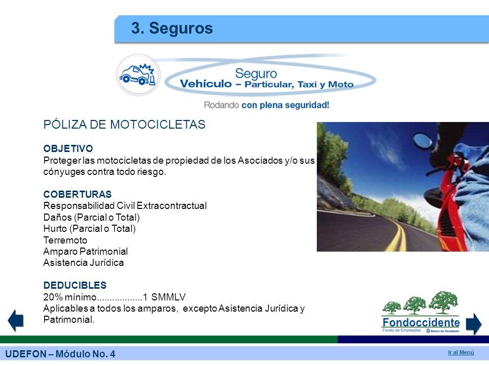 3. Seguros PÓLIZA DE MOTOCICLETAS OBJETIVO