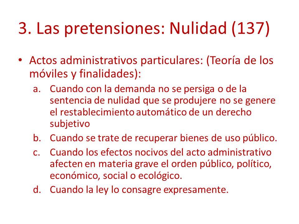 3. Las pretensiones: Nulidad (137)