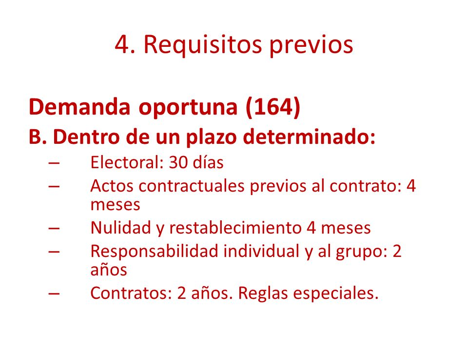 4. Requisitos previos Demanda oportuna (164)